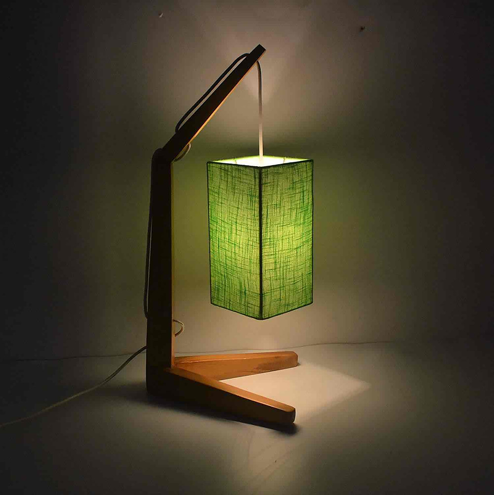 Serene And Elegant Handcrafted Wood Lamp