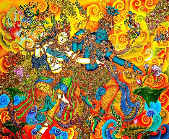 Leave Your Guests Mesmerised With This Eternal Love Radha Krishna Digital Art Painting