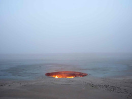 Darvaza Gas Crater: Door To Hell Burning Continuously Since 1971