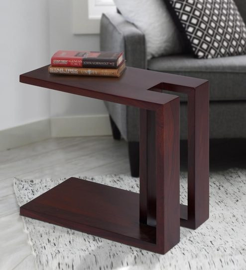 Stylish Wooden End Table: Designed To Be Placed In Front Or Next To A Sofa Or Upholstered Chairs