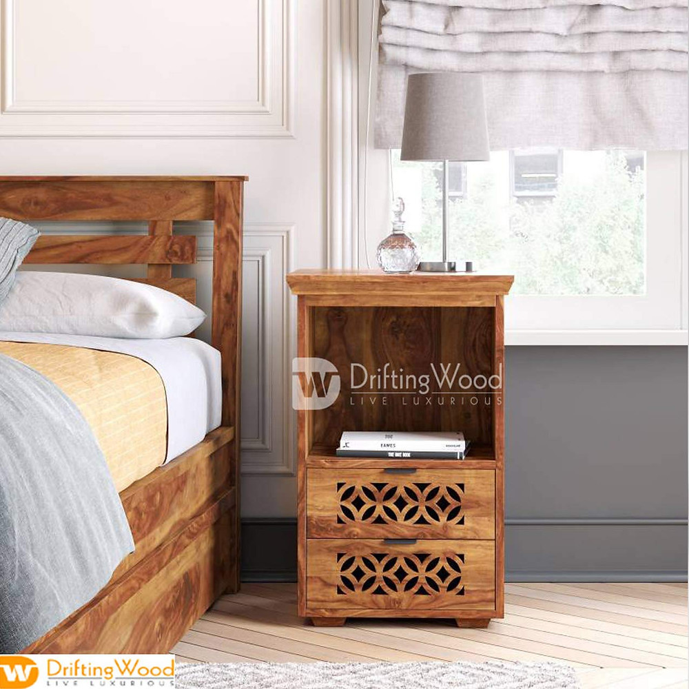 Wood Bedside Cabinet: Gives A Luxurious Look With This Minimalist Interior Table