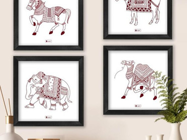 Designer Folk Framed Art Prints Inspired By The Roots of India