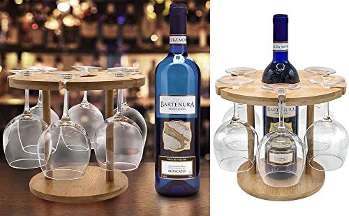 Bamboo Wine Glass Holder: Eye Catching And Sophisticated Appearance For Any Bar or Kitchen