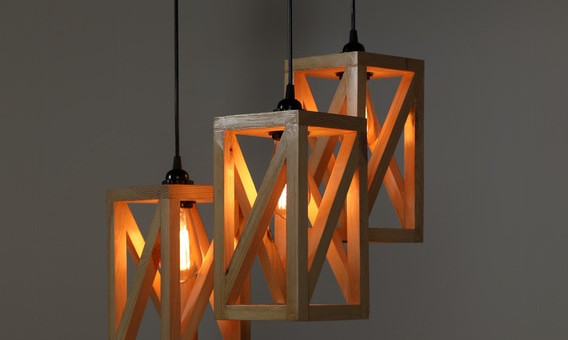 Aesthetic Beige Wood Beautiful Hanging Lights