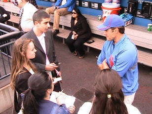 Mass Comm students getting the scoop at Citi Field