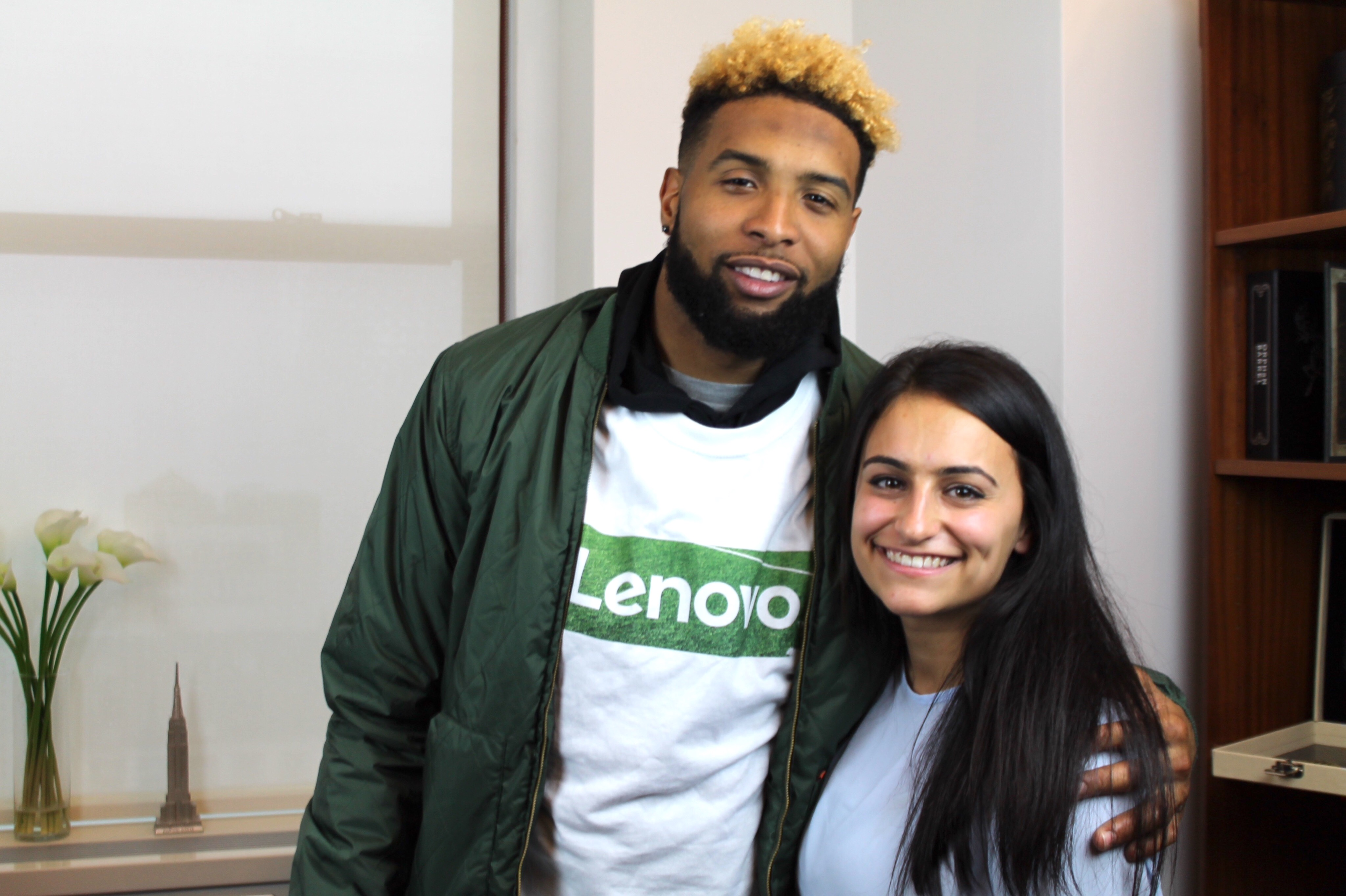 Allison Cozzi with Giants WR Odell Beckham Jr