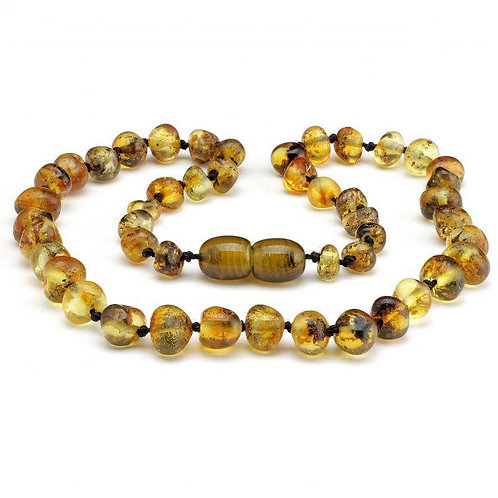 Light Green Amber Necklace