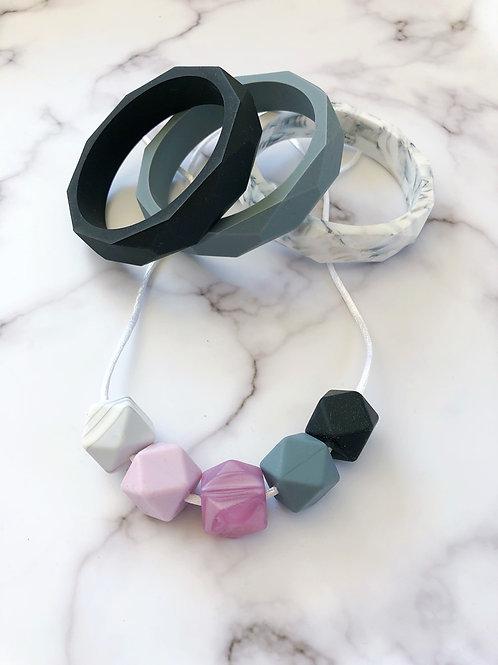 Pearl & Marble Jewellery Set