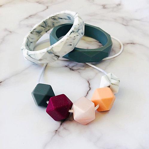 Berry & Marble Jewellery Set