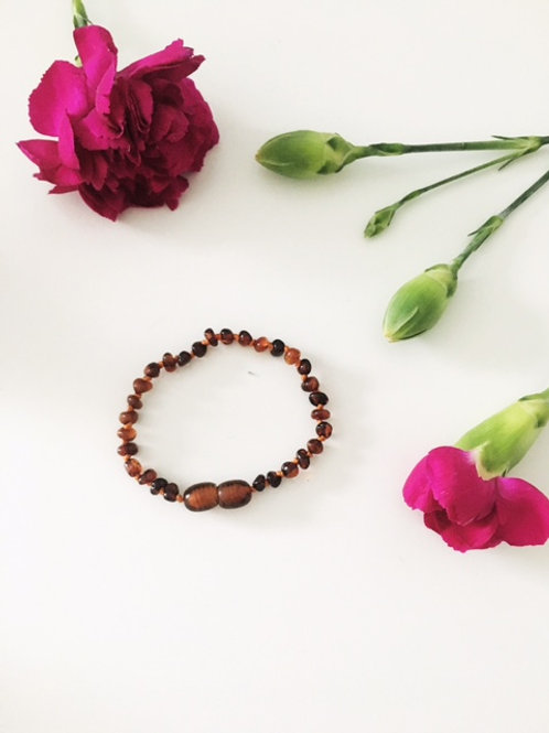 Small Beaded Cognac Anklet