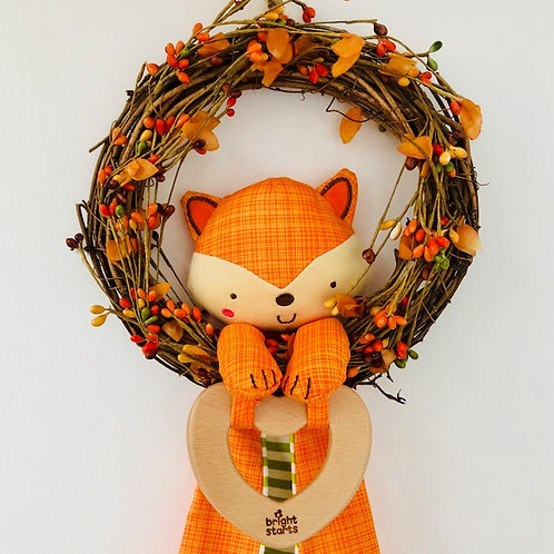 Bright Starts Simply Naturals Fox with Wooden Element