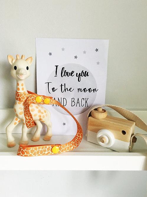 Sophie The Giraffe Harness/Pram Straps