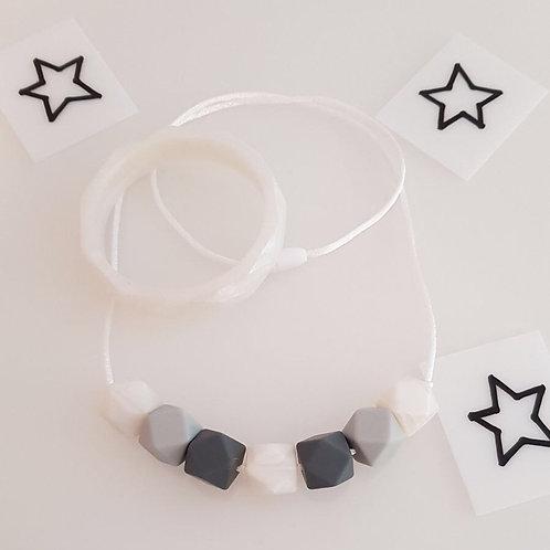 White Monochrome Jewellery Set