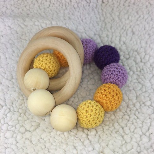 Baby J's Signature Teething Rattle