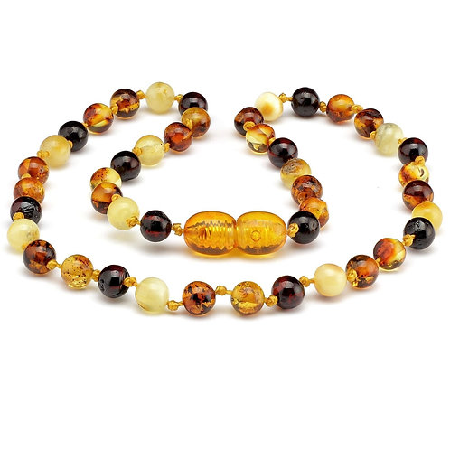 Multi Coloured Baltic Amber Necklace