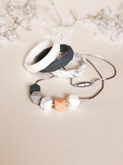 peach necklace set 2