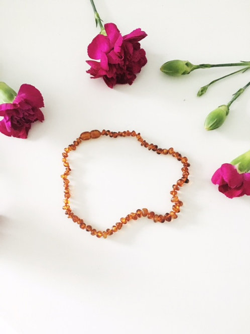 Small Bead Amber Necklace