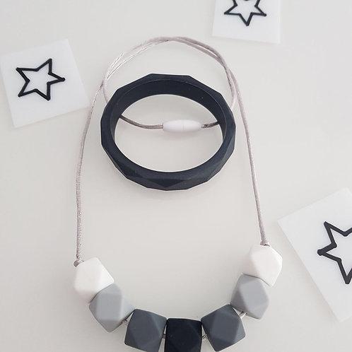 Black Monochrome Jewellery Set