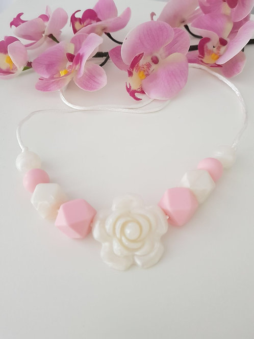 Pearly Rose Nursing Necklace
