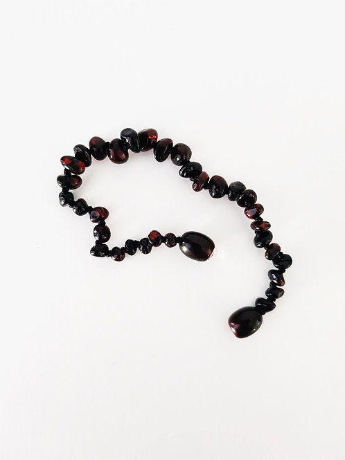 Small Beaded Dark Cherry Anklet