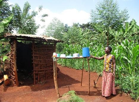 Drying rac, hyiene, Busoga Trust