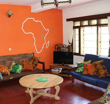 Living room, Busoga Trust Guest House