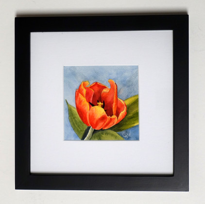 Red Tulip Original Watercolor Mini_1