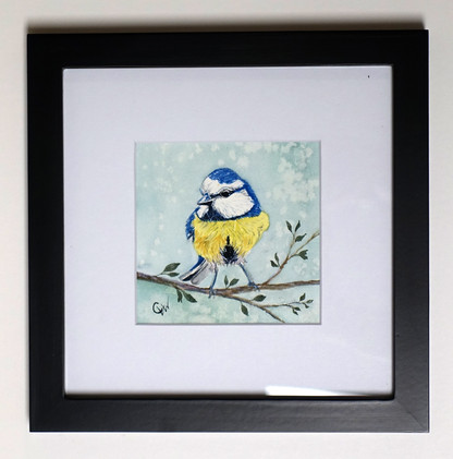 Yellow Bluebird Original Watercolor Mini_1