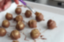 Fresh Cream Belgian Chocolate Truffles with gold shimmer