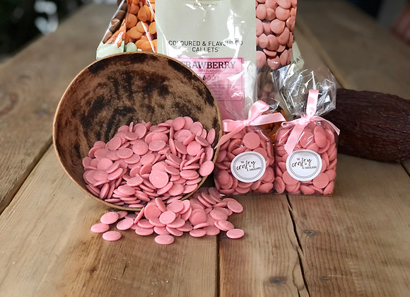 Callebaut Strawberry Flavoured Chocolate Buttons