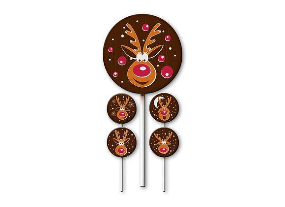 Festive Rudolph Jolly Lolly Set