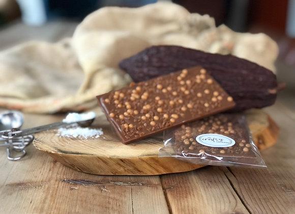 Sea Salt Caramel Crunch Milk Chocolate Bar