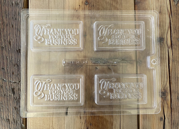 Thank you for your business bar Chocolate mould