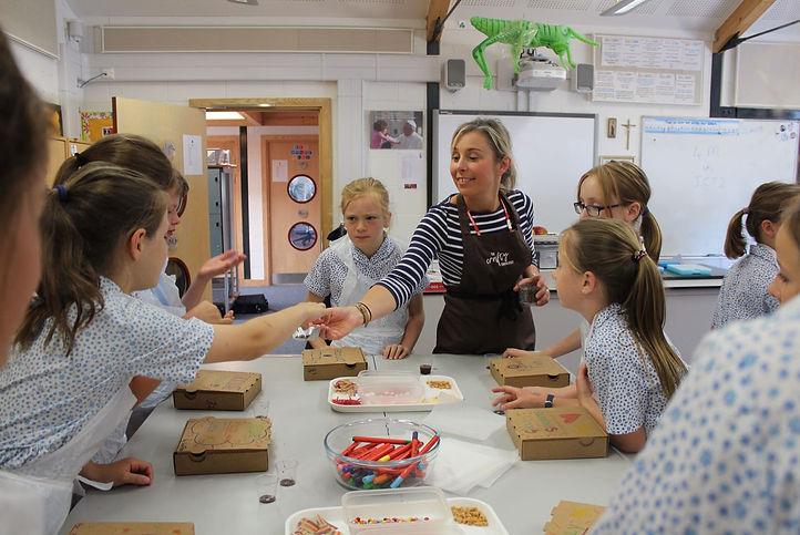 Junior chocolatier chocolate truffles from a school visit