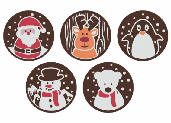Santa and Friends Jolly Lolly set