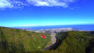 Baptême de parapente au dessus de Dos d'âne avec Air Lagon Parapente Réunion