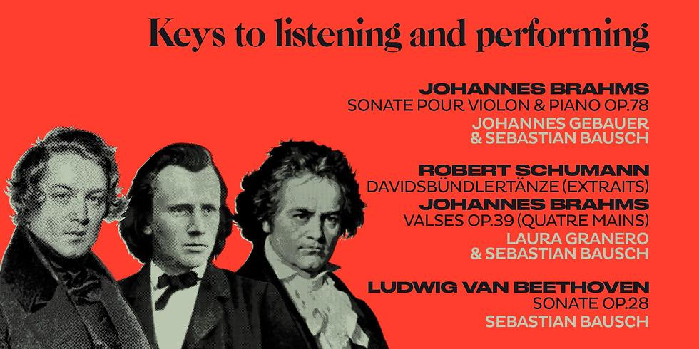 VOD : Séances filmées : Clés d'écoute et d'interprétation - Brahms, Schumann, Reinecke et leurs cercles