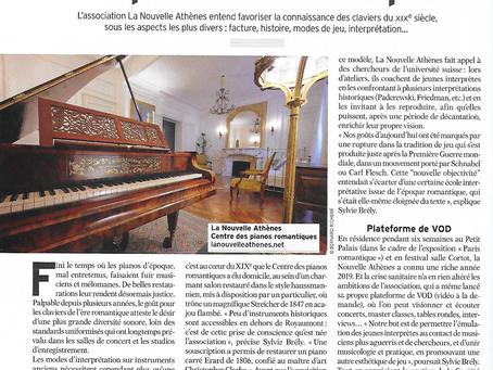 Un très bel article sur La Nouvelle Athènes dans Diapason, un grand merci à Bertrand Boissard