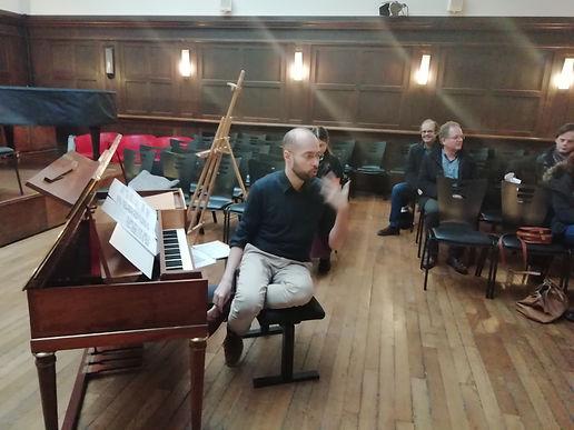 Avec Luca Montebugnoli pianoforte, Clotilde Verwaerde musicologue