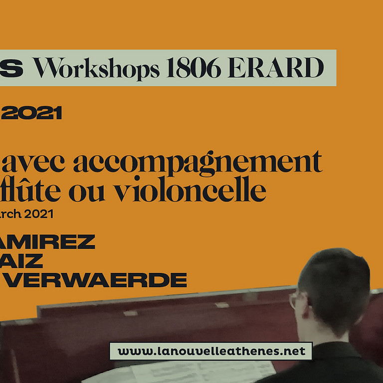 Workshop Sonata with Accompaniment (violin, flute), square piano Erard 1806