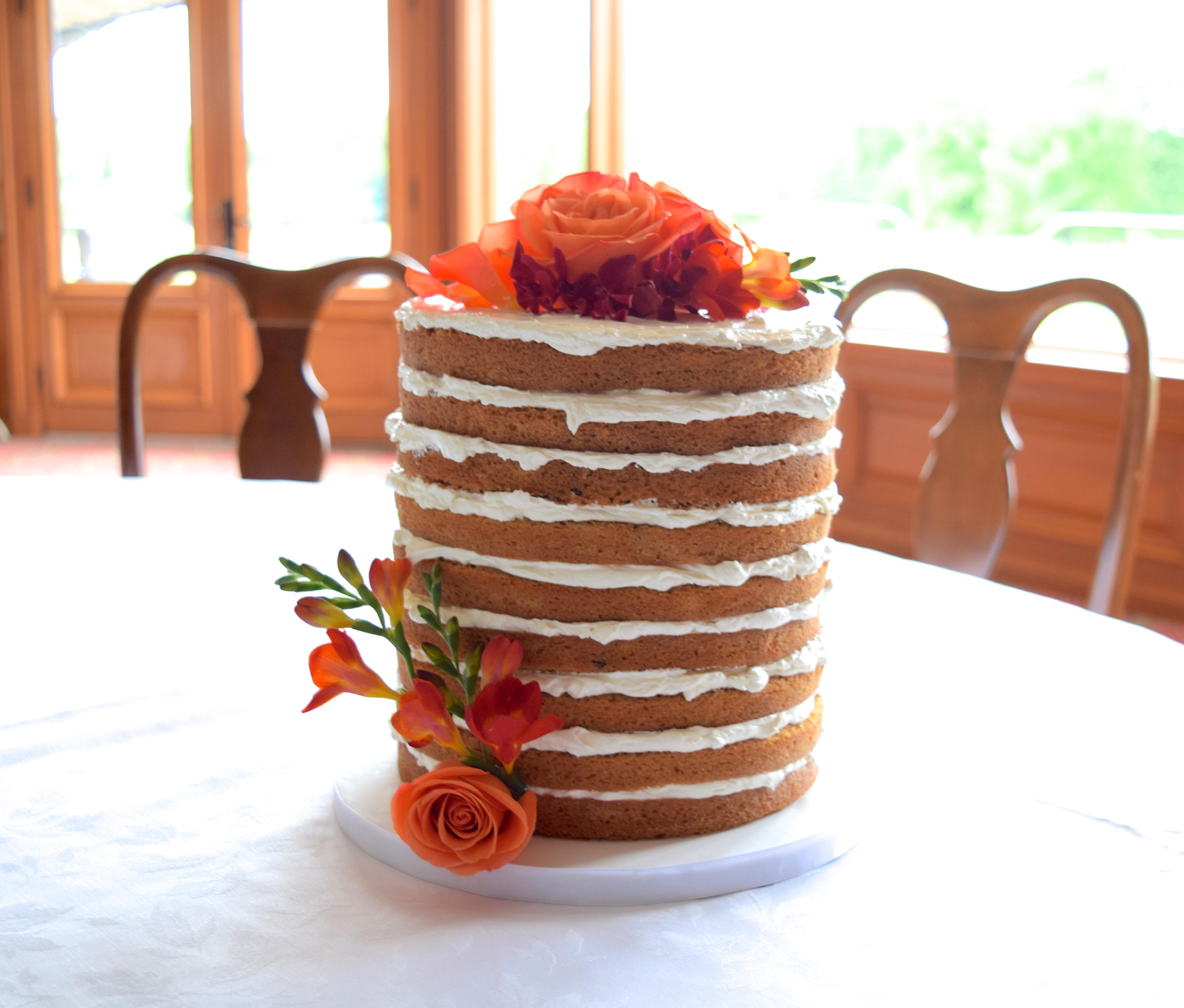 Gâteau 'Naked'