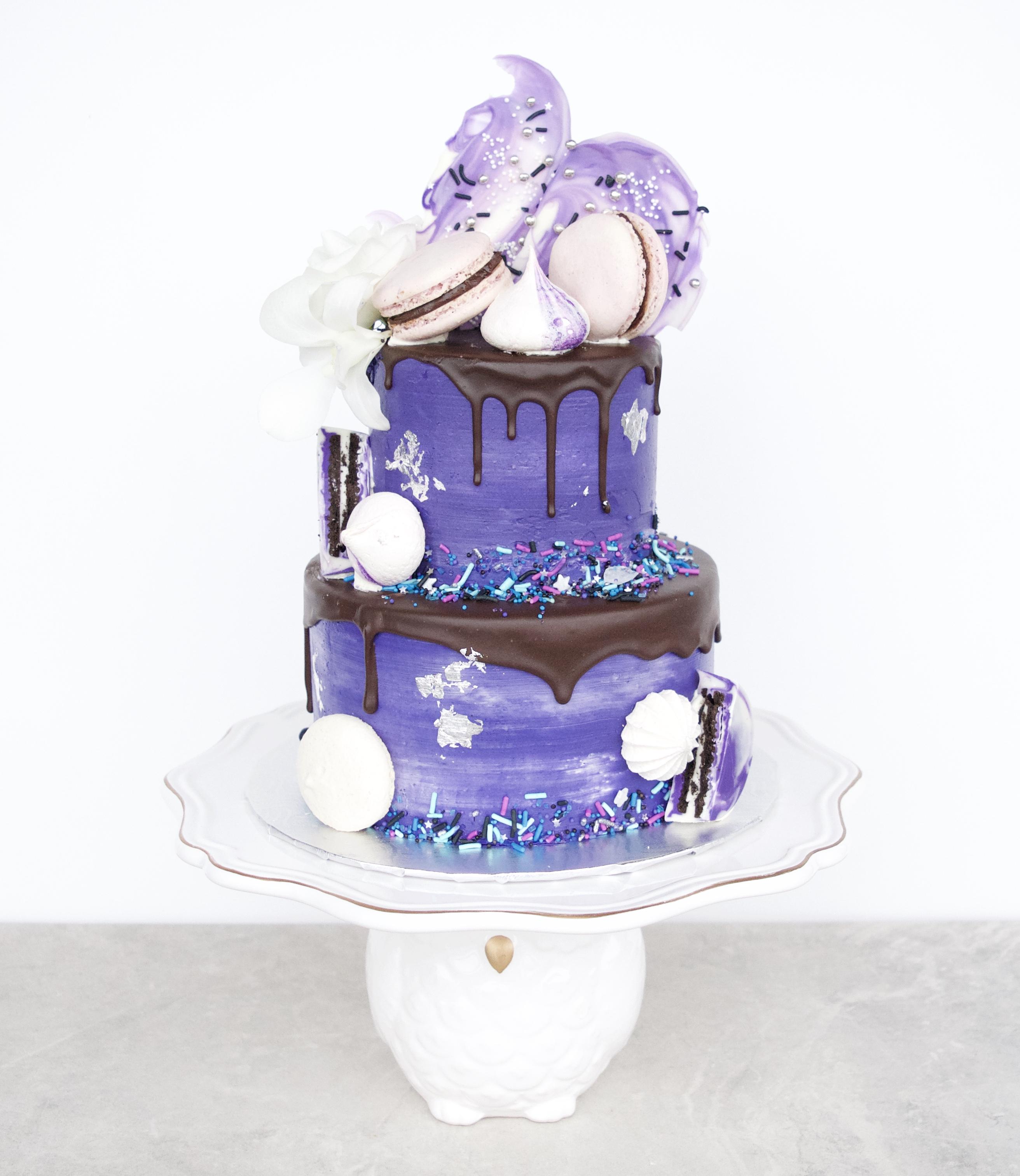 """""""Drip cake"""" mauve"""