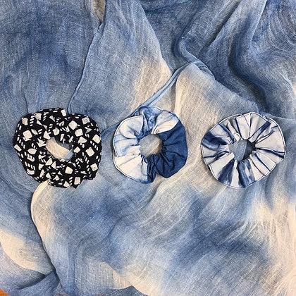 可愛藍染髮圈(三款圖案可選)
