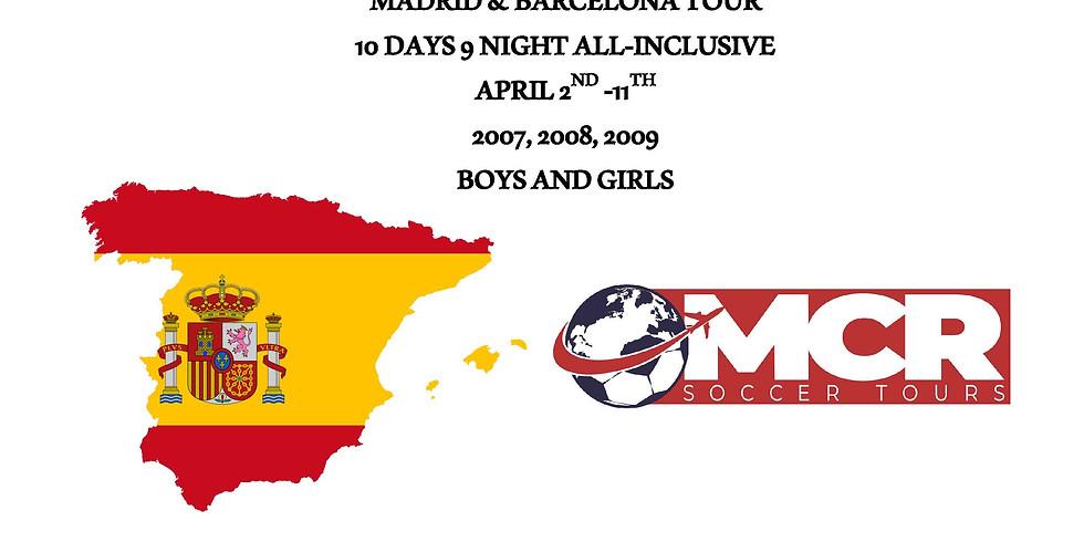MCR Soccer Spain April 2022 Tour