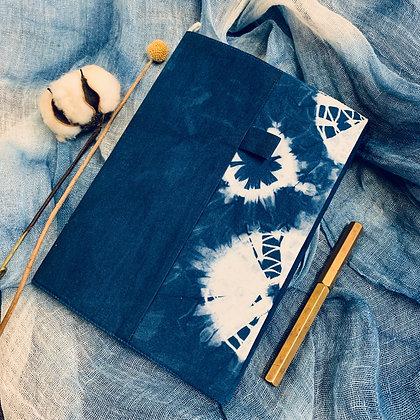 藍染拼布書套
