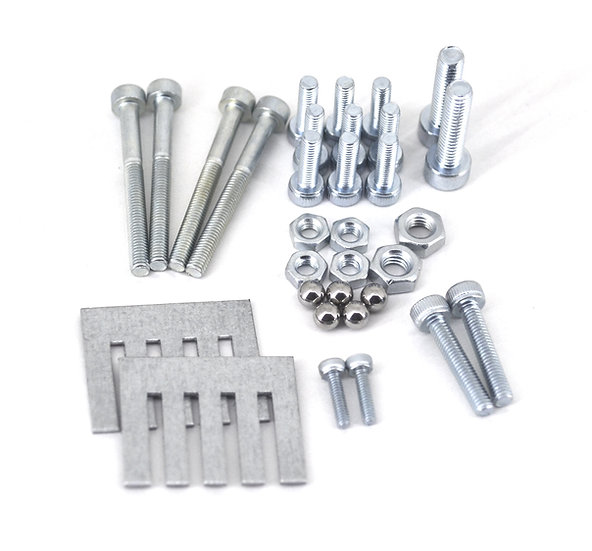 Full Set of bolts, nuts, balls and metal sheet for Filament Buffer