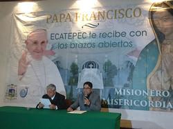 Conferencia en Catedral Ecatepec