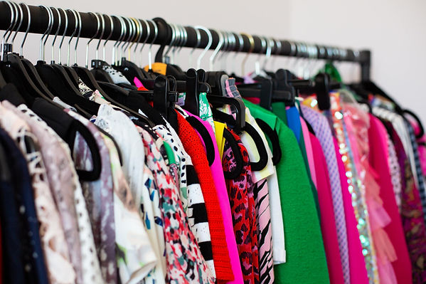 Rack of colourful clothes