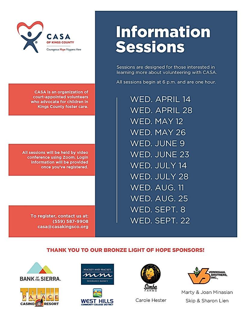 Information Session Flyer - October 2021