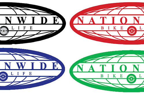 Nationwidebikelife Colored Decals